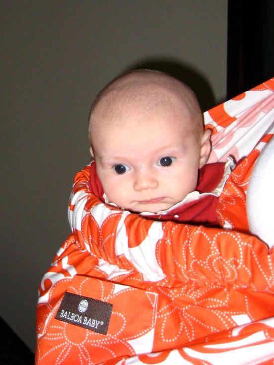 Isla in her sling 2009